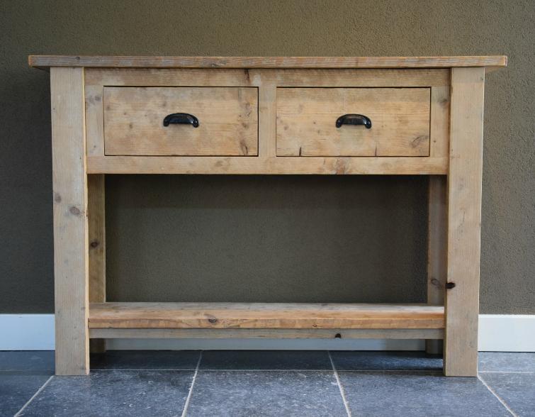 cmmode ladekast oud hout op maat - portfolio