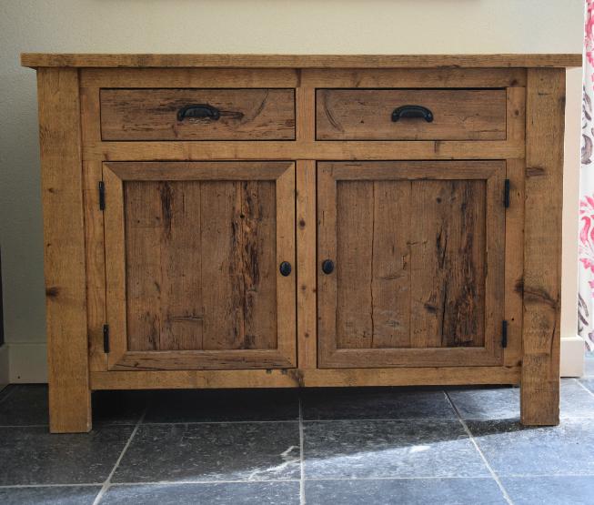 lage buffetkast op maat oud hout - portfolio